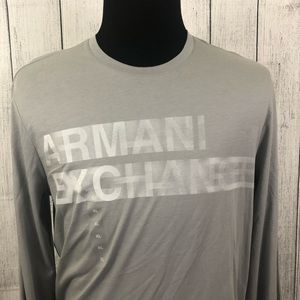 Armani Exchange XL Gray Slim Long Sleeve T-Shirt